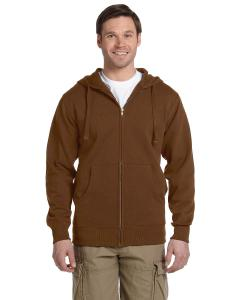 Legacy Brown Men's 9 oz. Organic/Recycled Full-Zip Hood