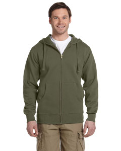 Jungle Men's 9 oz. Organic/Recycled Full-Zip Hood