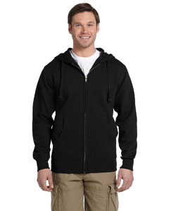Black Men's 9 oz. Organic/Recycled Full-Zip Hood