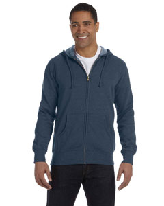 Water 7 oz. Unisex Organic/Recycled Heathered Full-Zip Hood