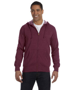 Berry 7 oz. Unisex Organic/Recycled Heathered Full-Zip Hood