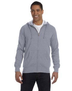 Athletic Grey 7 oz. Unisex Organic/Recycled Heathered Full-Zip Hood