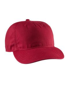 Red Twill 5-Panel Unstructured Hat