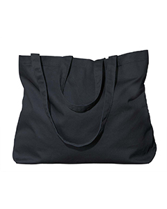 Black Organic Cotton Large Twill Tote
