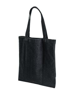 Black Post Industrial Recycled Cotton Tote