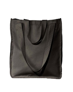 Black Organic Canvas Market Tote