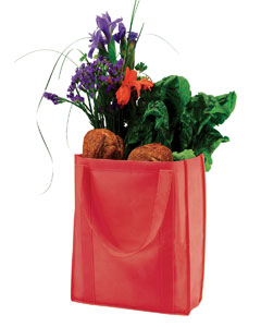 Red Non-Woven Grocery Tote