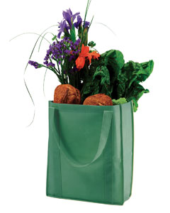 Green Non-Woven Grocery Tote