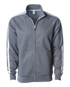 Gunmetal Heather Unisex Poly-Tech Full-Zip Track Jacket