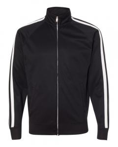Black Unisex Poly-Tech Full-Zip Track Jacket