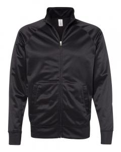 Black/ Black Unisex Poly-Tech Full-Zip Track Jacket
