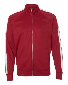 Brick Red Unisex Poly-Tech Full-Zip Track Jacket