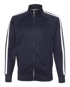 Classic Navy Unisex Poly-Tech Full-Zip Track Jacket