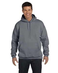 Charcoal Heather Adult 9.7 oz. Ultimate Cotton® 90/10 Pullover Hood