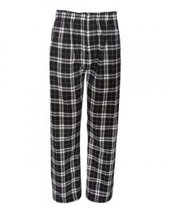 Black/ White Flannel Pants with Pockets