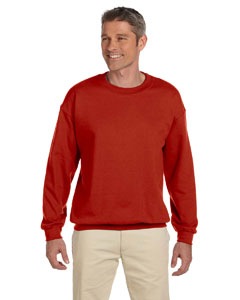 Deep Red 9.7 oz. Ultimate Cotton® 90/10 Fleece Crew