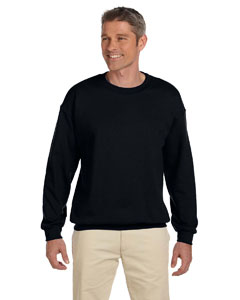 Black 9.7 oz. Ultimate Cotton® 90/10 Fleece Crew