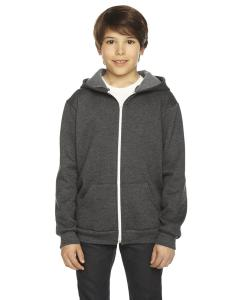 Dk Heather Grey Youth Flex Fleece Zip Hoodie