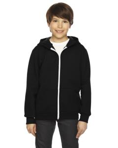 Black Youth Flex Fleece Zip Hoodie