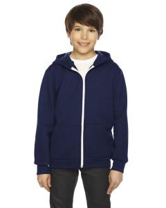 Navy Youth Flex Fleece Zip Hoodie
