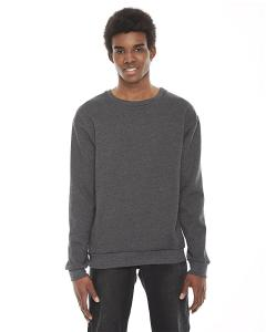 Dk Heather Grey Unisex Flex Fleece Drop Shoulder Pullover Crewneck