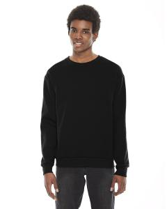 Black Unisex Flex Fleece Drop Shoulder Pullover Crewneck