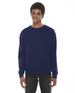 Navy Unisex Flex Fleece Drop Shoulder Pullover Crewneck