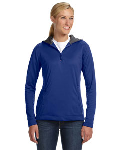 Royal Women's Tech Fleece Quarter-Zip Pullover Hood