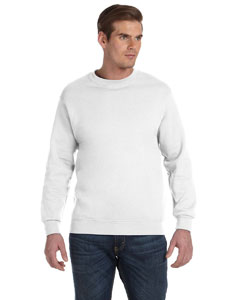 White DryBlend™ 9.3 oz., 50/50 Fleece Crew