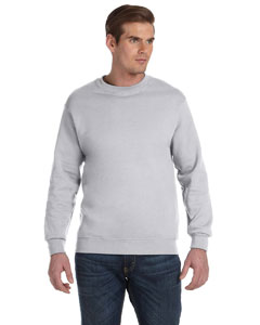 Ash Grey DryBlend™ 9.3 oz., 50/50 Fleece Crew