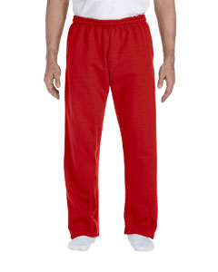Red DryBlend™ 9.3 oz., 50/50 Open-Bottom Sweatpants