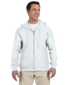 White DryBlend™ 9.3 oz., 50/50 Full-Zip Hood