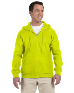 Safety Green DryBlend™ 9.3 oz., 50/50 Full-Zip Hood