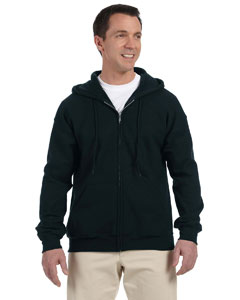 Black DryBlend™ 9.3 oz., 50/50 Full-Zip Hood