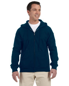 Navy DryBlend™ 9.3 oz., 50/50 Full-Zip Hood