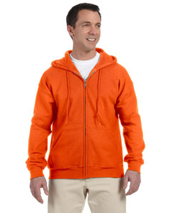 Safety Orange DryBlend™ 9.3 oz., 50/50 Full-Zip Hood