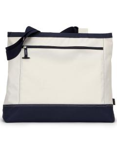 Natural/ Navy Utility Tote