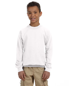 White Heavy Blend™ Youth 8 oz., 50/50 Fleece Crew