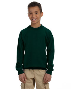 Forest Green Heavy Blend™ Youth 8 oz., 50/50 Fleece Crew