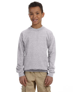 Sport Grey Heavy Blend™ Youth 8 oz., 50/50 Fleece Crew