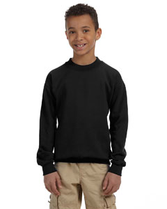 Black Heavy Blend™ Youth 8 oz., 50/50 Fleece Crew