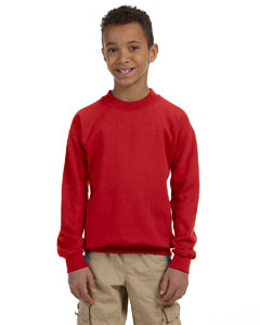 Red Heavy Blend™ Youth 8 oz., 50/50 Fleece Crew