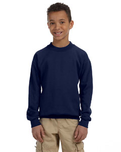 Navy Heavy Blend™ Youth 8 oz., 50/50 Fleece Crew