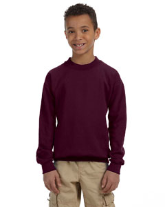 Maroon Heavy Blend™ Youth 8 oz., 50/50 Fleece Crew