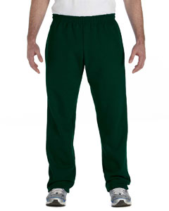Forest Green Heavy Blend™ 8 oz., 50/50 Open-Bottom Sweatpants