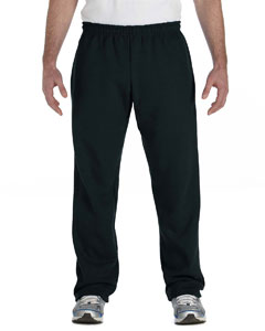 Black Heavy Blend™ 8 oz., 50/50 Open-Bottom Sweatpants