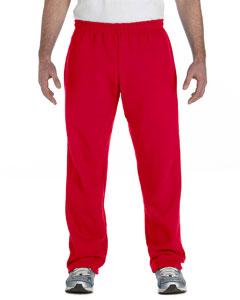 Red Heavy Blend™ 8 oz., 50/50 Open-Bottom Sweatpants