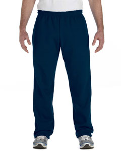 Navy Heavy Blend™ 8 oz., 50/50 Open-Bottom Sweatpants