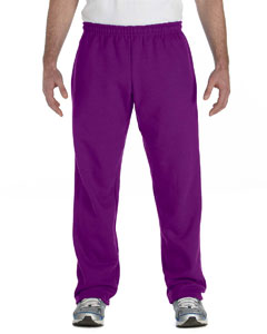 Purple Heavy Blend™ 8 oz., 50/50 Open-Bottom Sweatpants