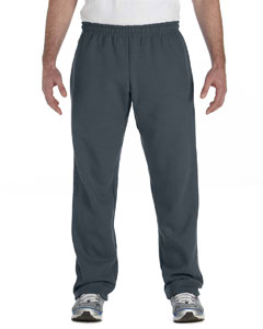 Dark Heather Heavy Blend™ 8 oz., 50/50 Open-Bottom Sweatpants